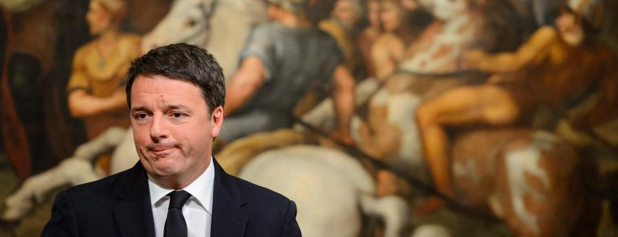 epaselect epa05660300 The Italian Prime Minister, Matteo Renzi, speaks at the Palazzo Chigi in Rome, Italy, 04 December 2016 after the referendum on constitutional reform. Matteo Renzi has announced his resignation after exit polls on 04 December 2016 suggest a 'No' vote victory in a crucial referendum to which Renzi had tied his political future. The referendum is considered by the government to end gridlock and make passing legislation cheaper by, among other things, turning the Senate into a leaner body made up of regional representatives with fewer lawmaking powers. It would also do away with the equal powers between the Upper and Lower Houses of parliament - an unusual system that has been blamed for decades of political gridlock.  EPA/GREGOR FISCHER