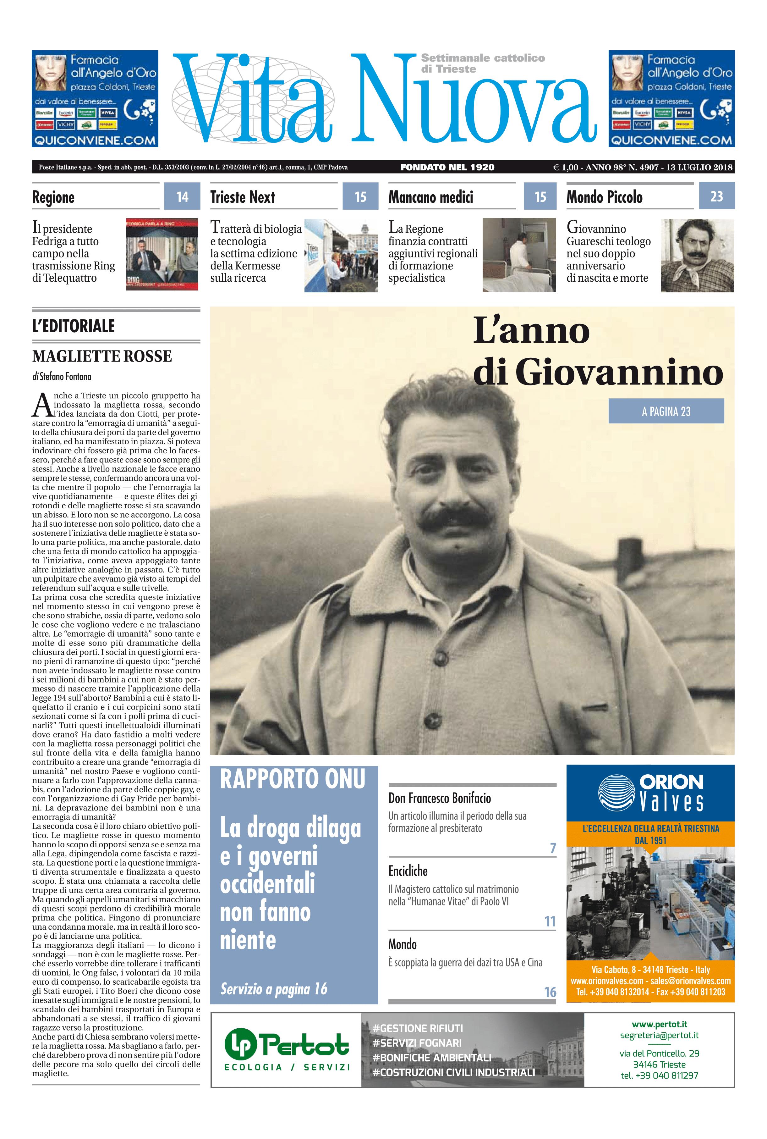 prima pagina vita nuova