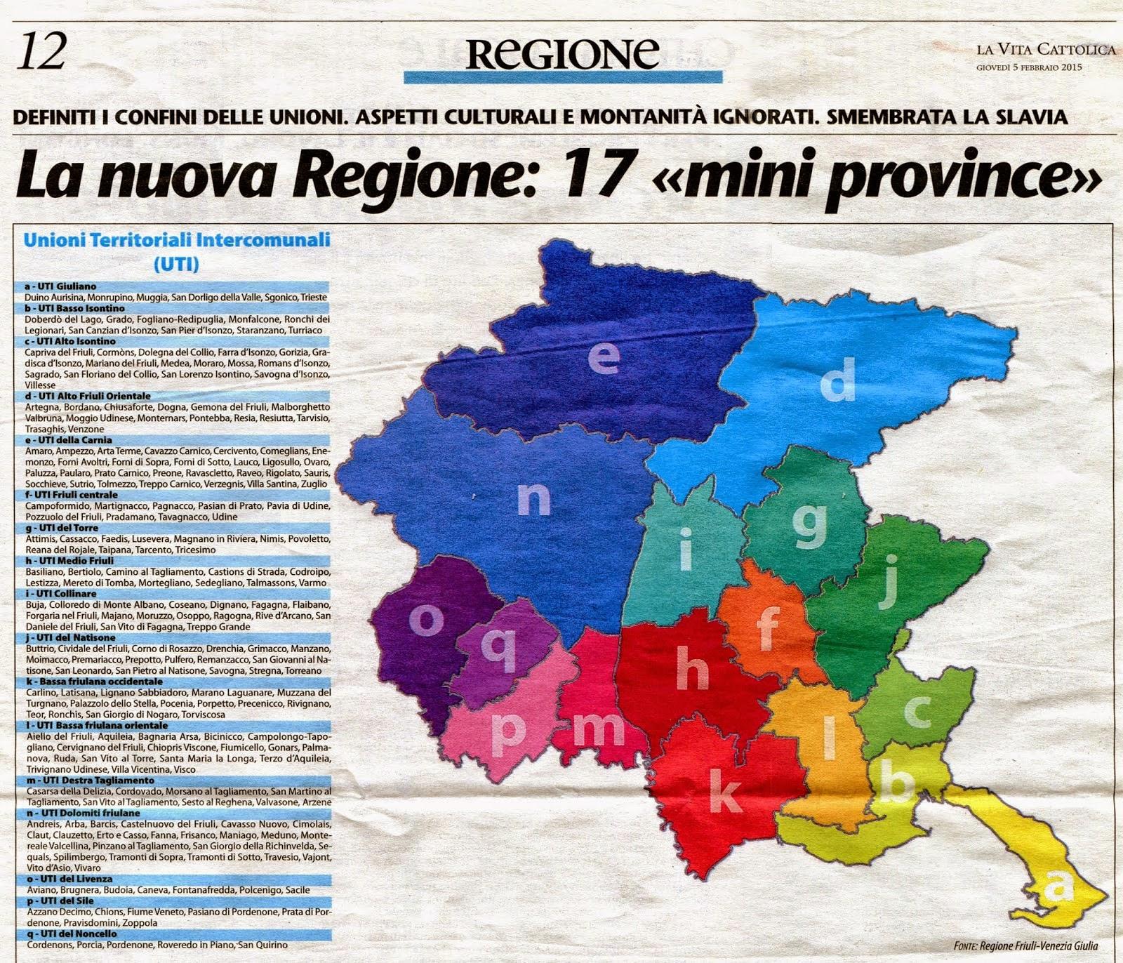 Regione Friuli Venezia Giulia Cartina.Vita Nuova Trieste Le Uti Della Regione Friuli Venezia Giulia Dopo Il Referendum Sono Un Bel Problemone Politico